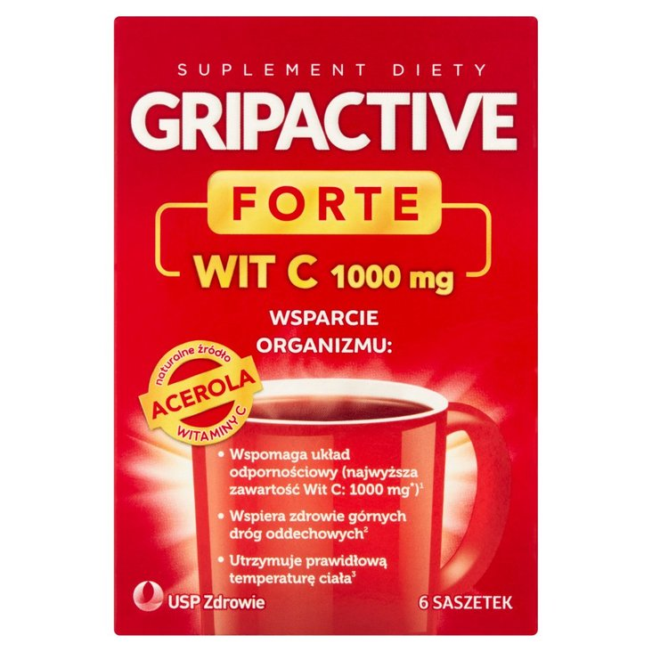 Gripactive Forte Suplement diety 17,1 g (6 x 2,85 g) (2)