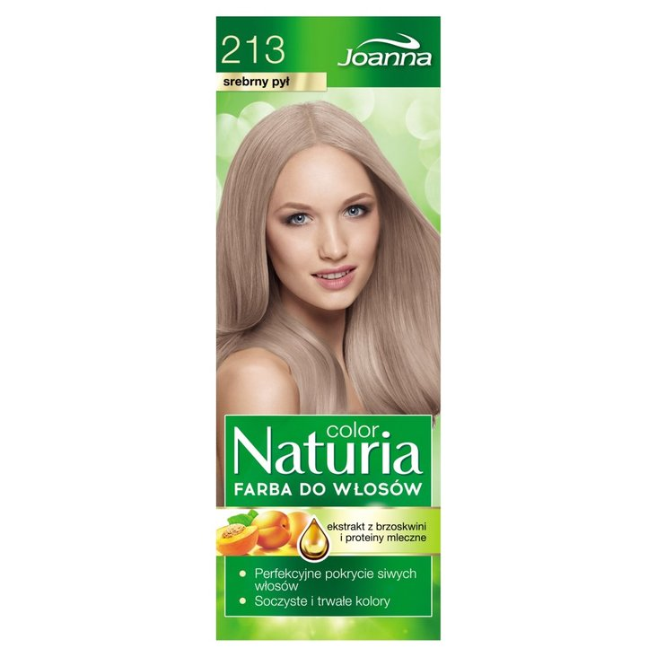 Joanna Naturia color Farba do włosów srebrny pył 213 (2)