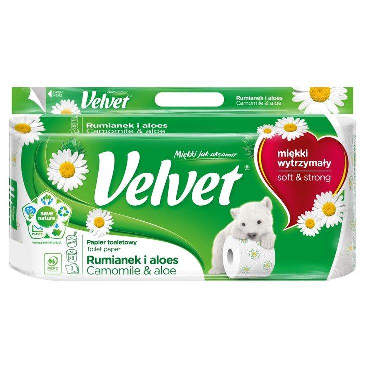 Velvet Rumianek i Aloes Papier toaletowy 8 rolek (3)