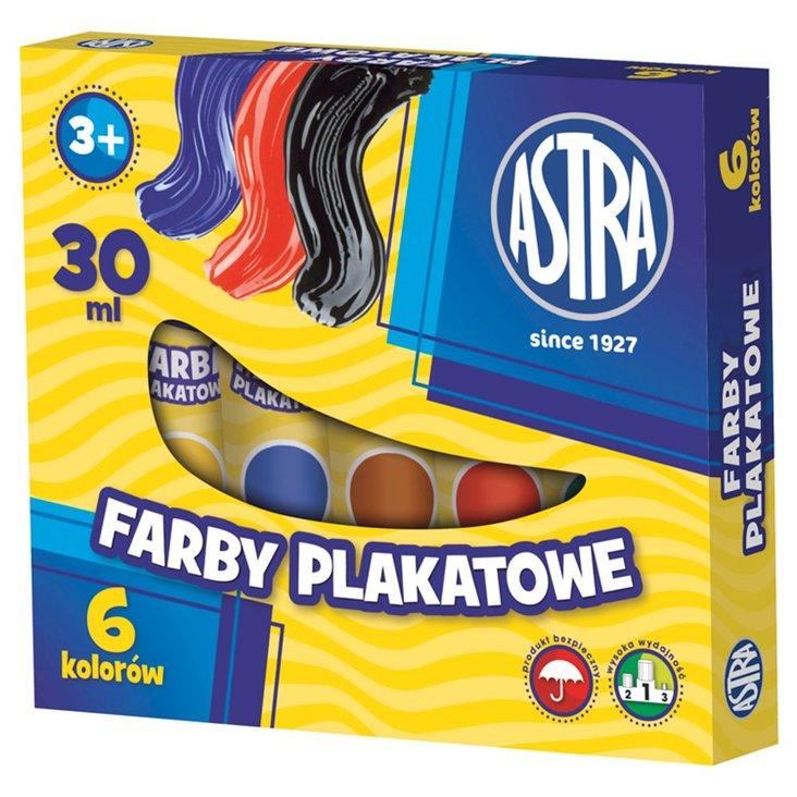 Astra Farby plakatowe 6 kolorów po 30 ml (1)
