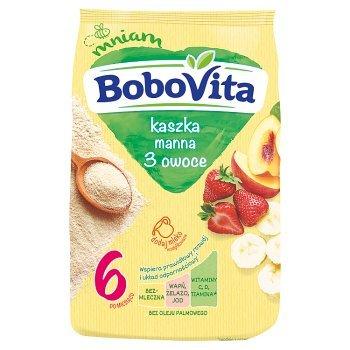 BoboVita Kaszka manna 3 owoce po 6. miesiącu 180 g (2)
