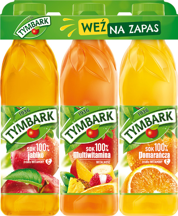Trójpak soków TYMBARK 3x1L PET (1)
