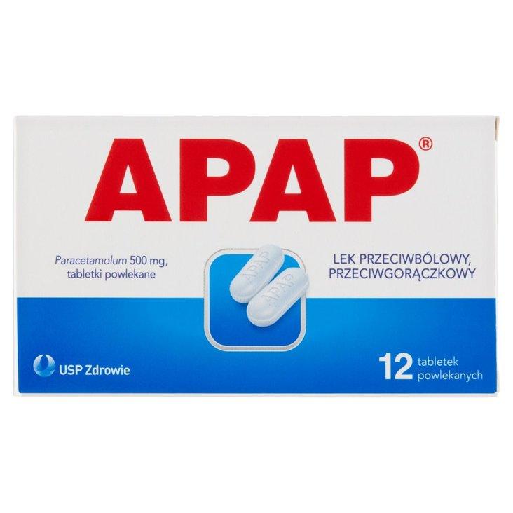 Apap Lek przeciwbólowy przeciwgorączkowy 12 sztuk (2)