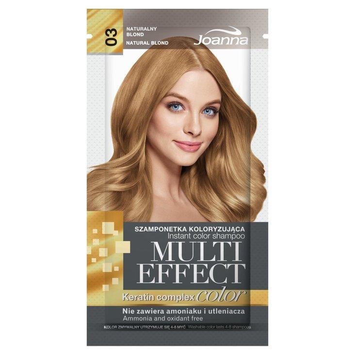 Joanna Multi Effect color Szamponetka koloryzująca naturalny blond 03 35 g (1)