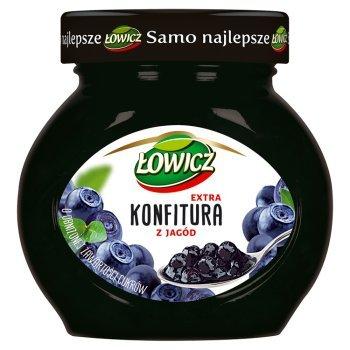Łowicz Konfitura extra z jagód o obniżonej zawartości cukrów 240 g (1)