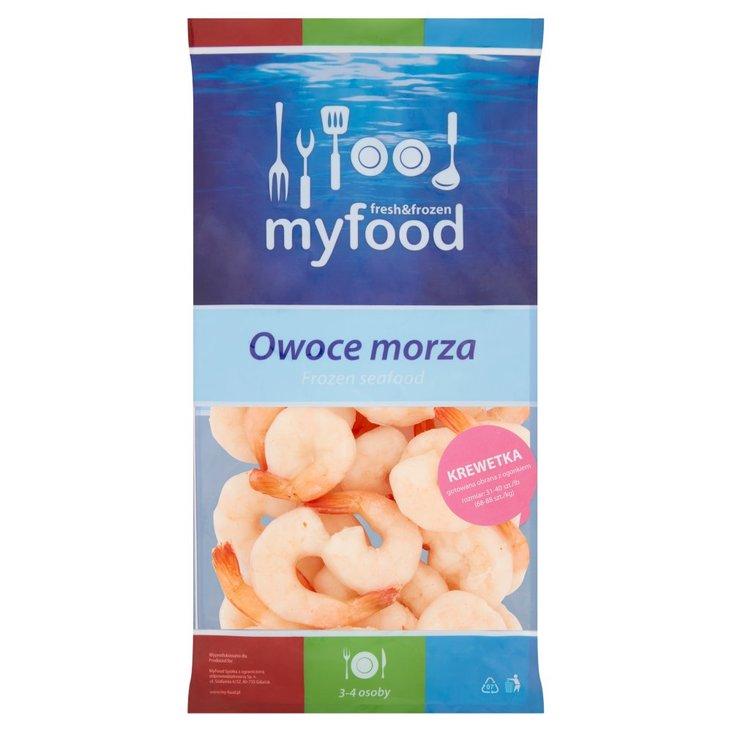 MyFood Owoce morza Krewetka biała gotowana obrana z ogonkiem 400 g (1)