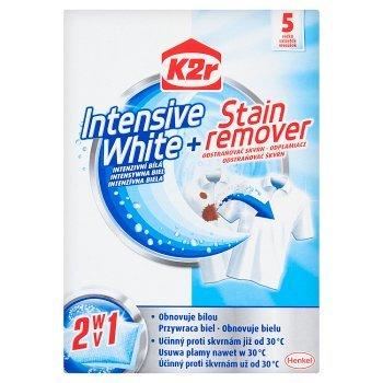 K2r Intensive White + Stain Remover Saszetki 150 g (5 sztuk) (1)