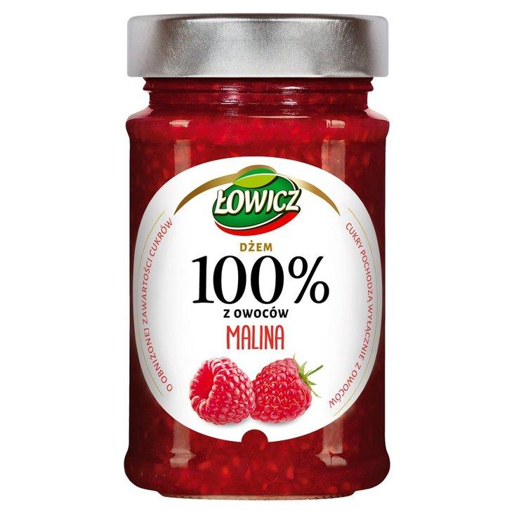 Łowicz Dżem 100% z owoców malina 220 g (1)