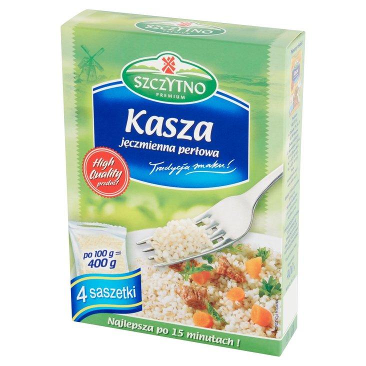 Szczytno Premium Kasza jęczmienna perłowa 400 g (4 saszetki) (1)