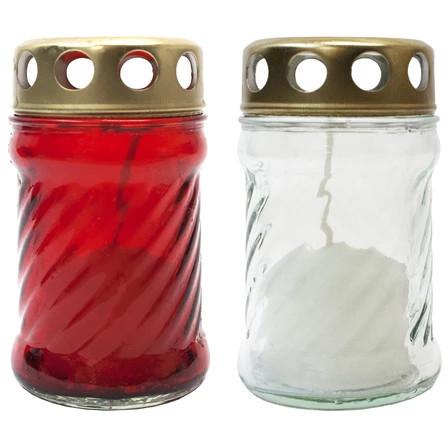 WÓJCIK Znicz szklany L-170 śrubka mały 1 szt. (1)
