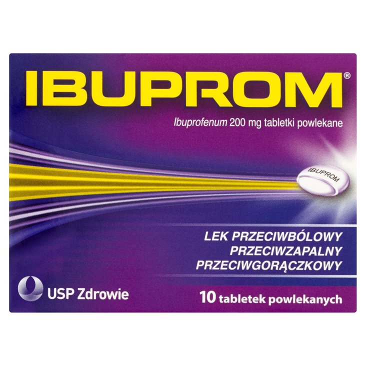 Ibuprom 200 mg Tabletki powlekane 10 tabletek (2)