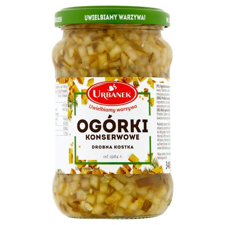 Urbanek Ogórki konserwowe drobna kostka 340 g (2)