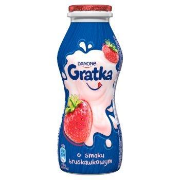 Danone Gratka Napój mleczny o smaku truskawkowym 170 g (1)