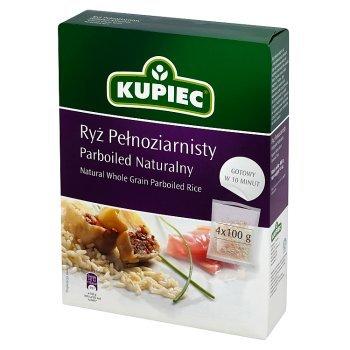 Kupiec Ryż pełnoziarnisty parboiled naturalny 400 g (4 torebki) (1)