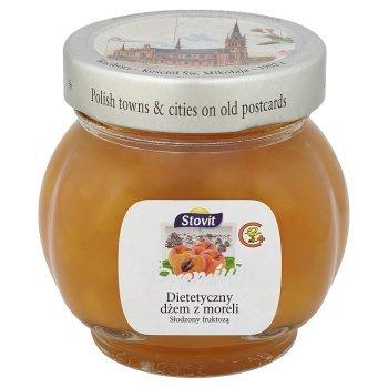 Stovit Dietetyczny dżem z moreli słodzony fruktozą premium 240 g (1)