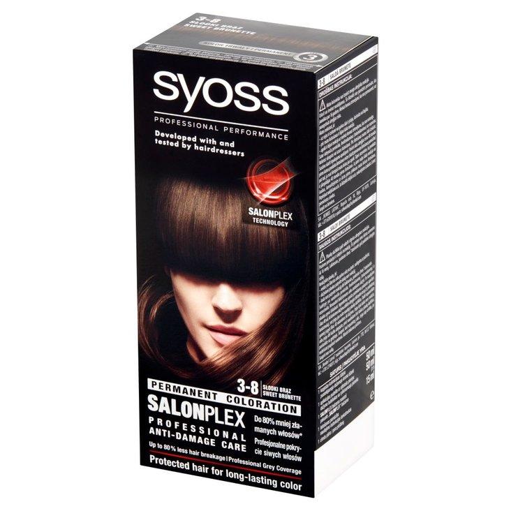 Syoss SalonPlex Farba do włosów słodki brąz 3-8 (1)