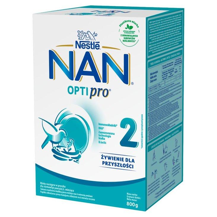 NAN OPTIPRO 2 Mleko następne dla niemowląt powyżej 6. miesiąca 800 g (2 x 400 g) (1)