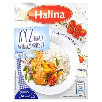 Halina Ryż biały długoziarnisty 400 g (4 sztuki) (2)
