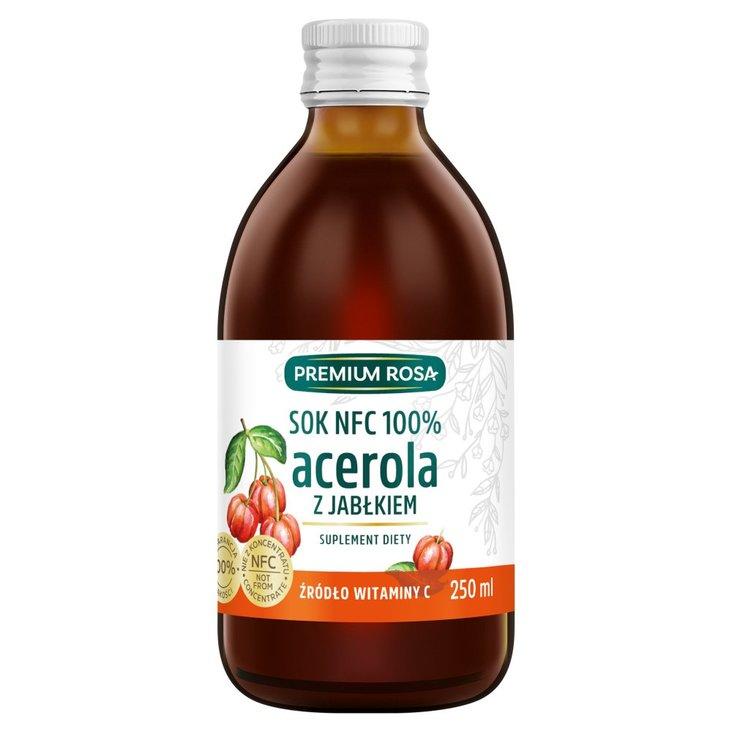 Premium Rosa Suplement diety sok NFC 100% acerola z jabłkiem 250 ml (1)