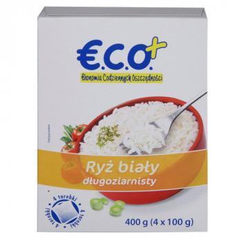 €.C.O.+  Ryż biały długoziarnisty 4x100g 400g (1)