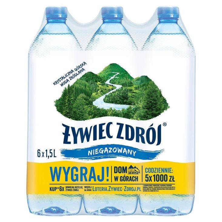 Żywiec Zdrój Niegazowany Woda źródlana 6 x 1,5 l (1)
