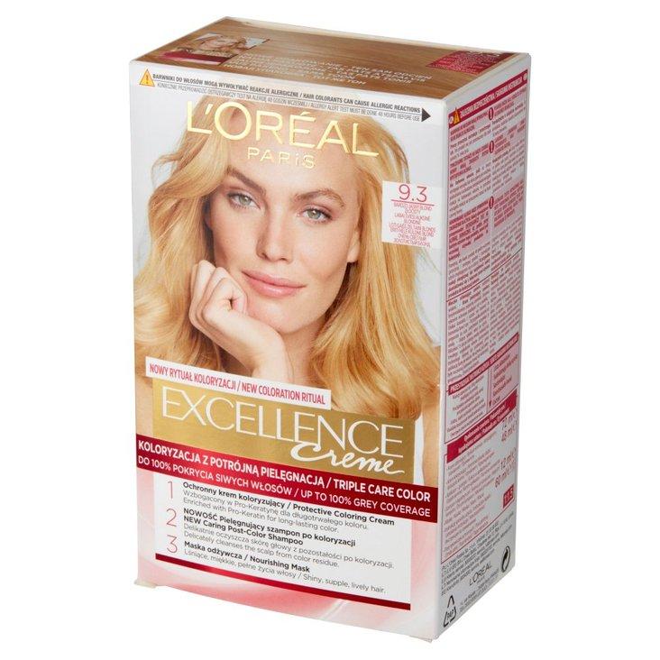 L'Oréal Paris Excellence Farba do włosów bardzo jasny blond złocisty 9.3 (1)