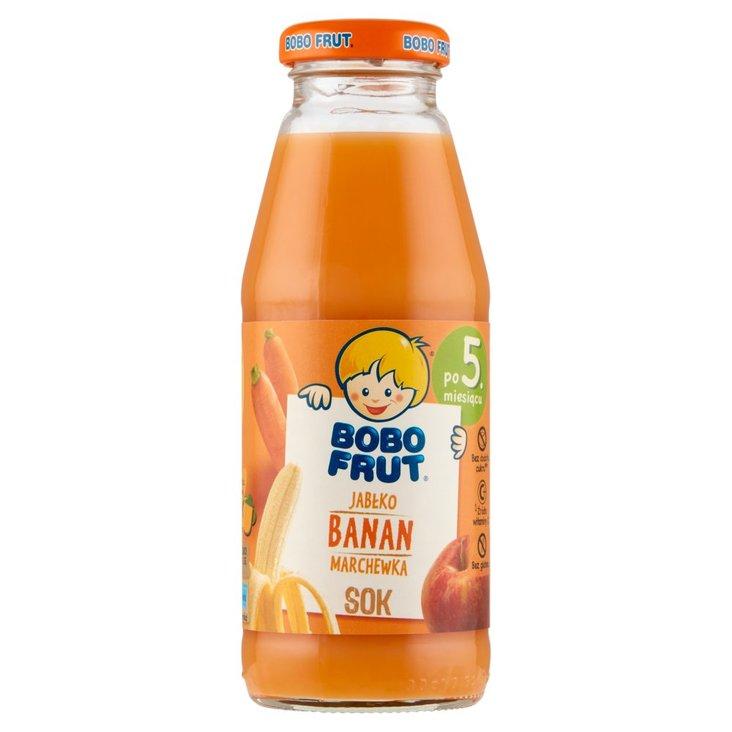 Bobo Frut Sok jabłko banan marchewka po 5. miesiącu 300 ml (1)