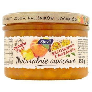 Stovit Naturalnie owocowe Brzoskwinie z marakują 255 g (2)