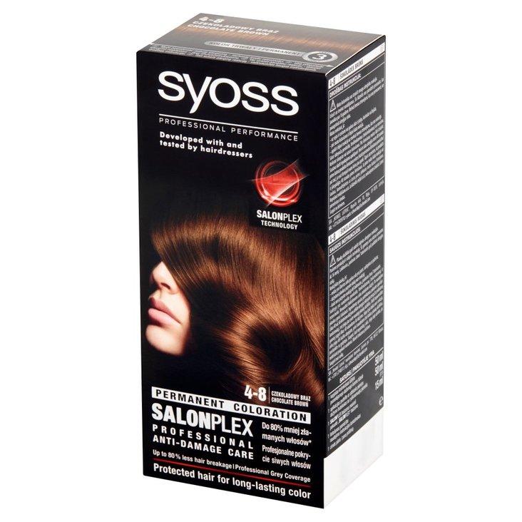 Syoss SalonPlex Farba do włosów czekoladowy brąz 4-8 (1)