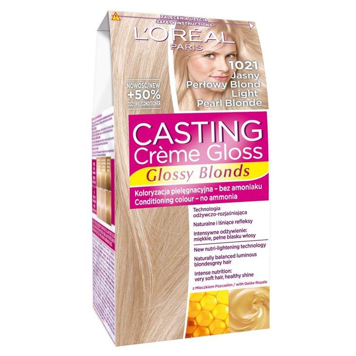 L'Oreal Paris Casting Creme Gloss Farba do włosów 1021 jasny perłowy blond (1)
