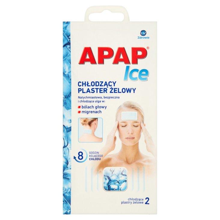 Apap Ice Chłodzący plaster żelowy 2 sztuki (1)