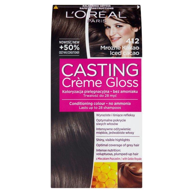 L'Oréal Paris Casting Crème Gloss Farba do włosów 412 Mroźne kakao (2)