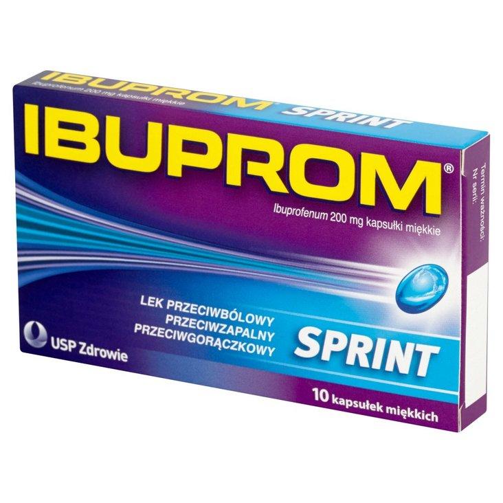 Ibuprom Sprint 200 mg Kapsułki miękkie 10 kapsułek (1)