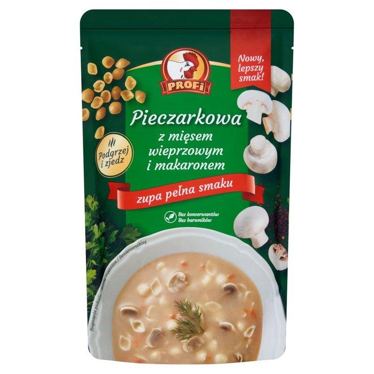 Profi Pieczarkowa z mięsem wieprzowym i makaronem 450 g (1)