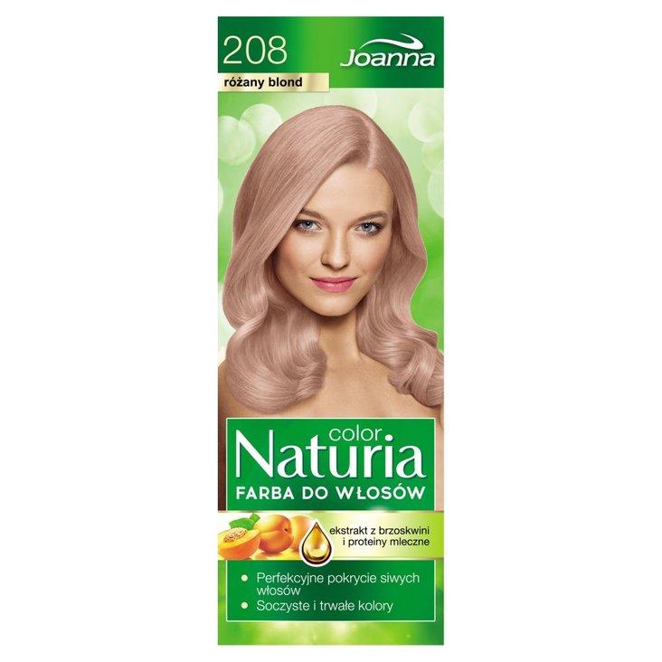 Joanna Naturia color Farba do włosów różany blond 208 (2)