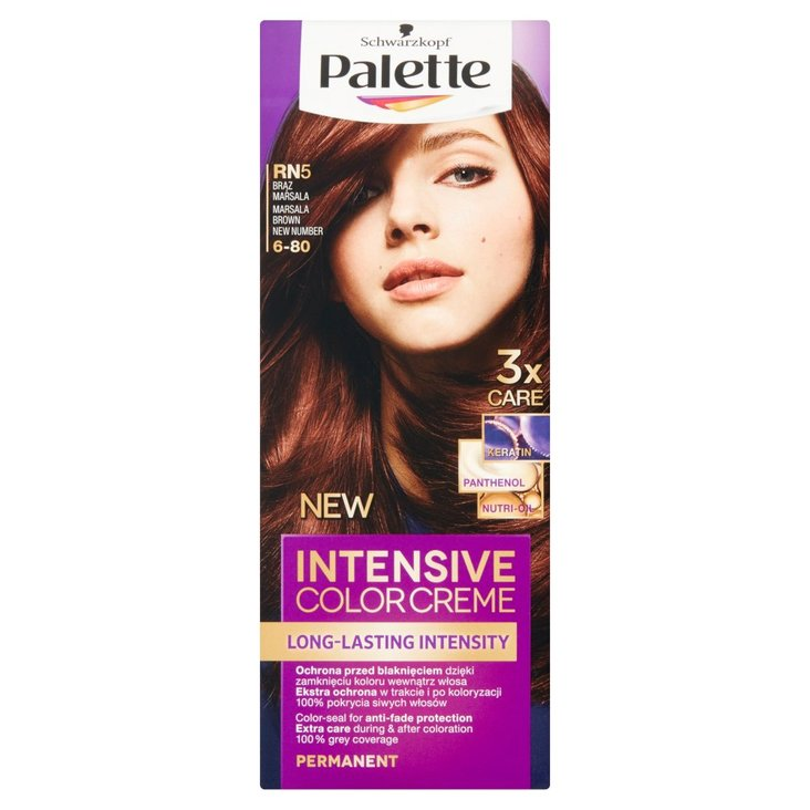 Palette Intensive Color Creme Farba do włosów brąz marsala RN5 (6-80) (2)