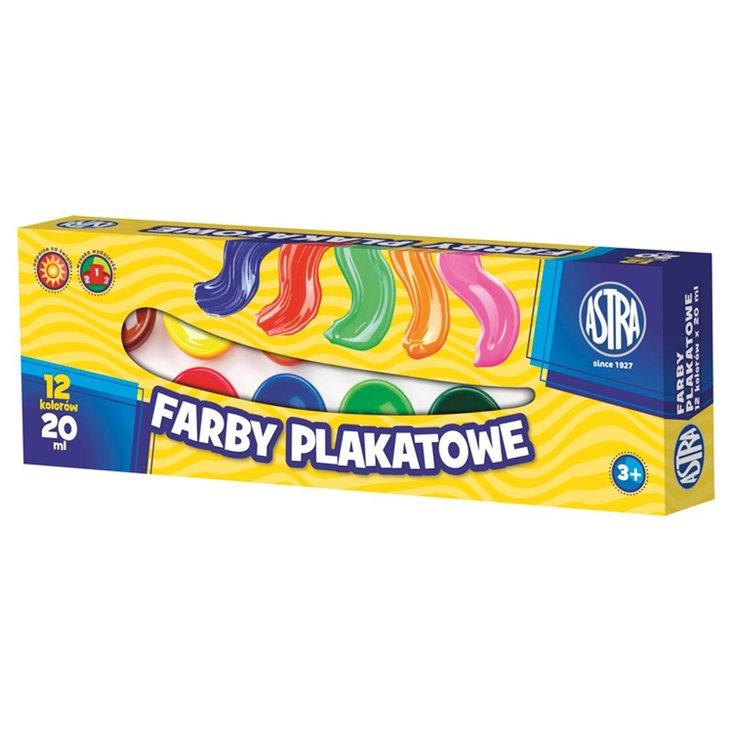 Astra Farby plakatowe 12 kolorów po 20 ml (1)