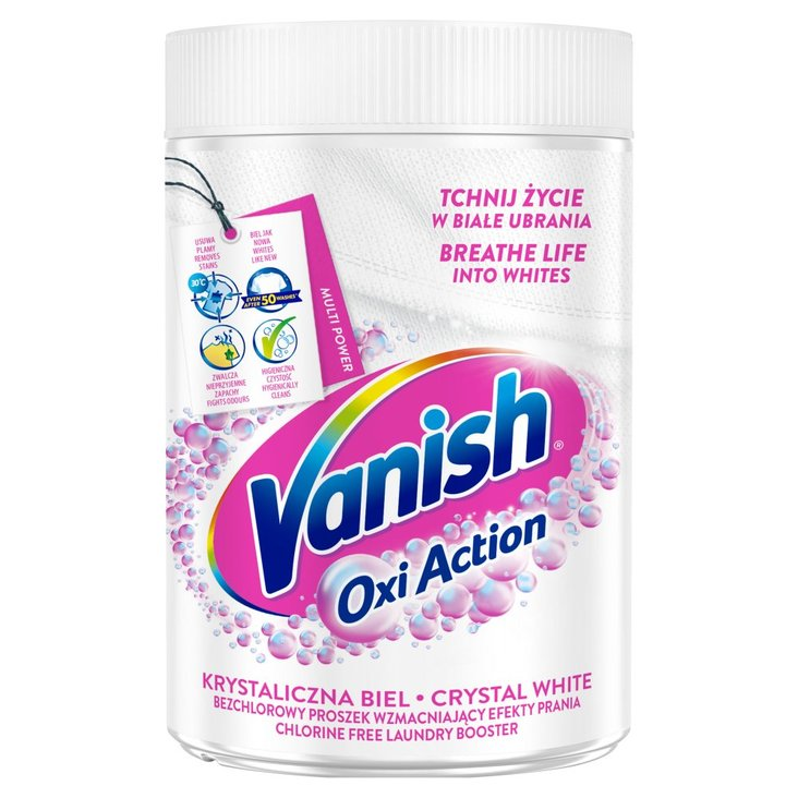 Vanish Oxi Action Odplamiacz do białych tkanin w proszku 625 g (1)
