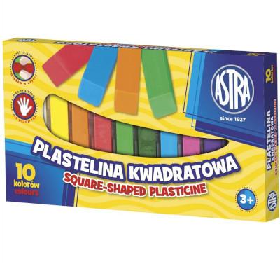 ASTRA PLASTELINA KWADRATOWA 10 KOLORÓW (1)