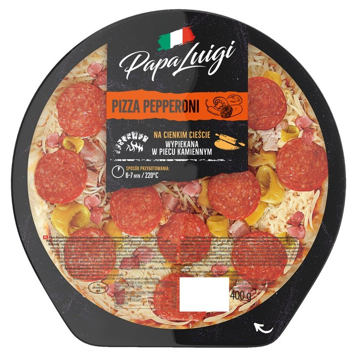 Papa Luigi Pizza pepperoni 400 g (1)