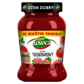 Łowicz Dżem truskawkowy o obniżonej zawartości cukrów 450 g (1)