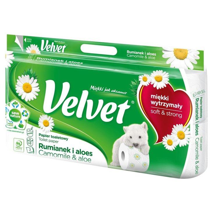 Velvet Rumianek i Aloes Papier toaletowy 8 rolek (1)