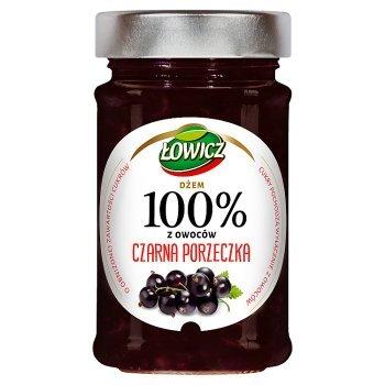 Łowicz Dżem 100% z owoców czarna porzeczka 220 g (1)