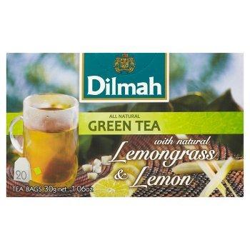 Dilmah Zielona herbata z trawą cytrynową i naturalnym aromatem cytryny 30 g (20 torebek) (2)