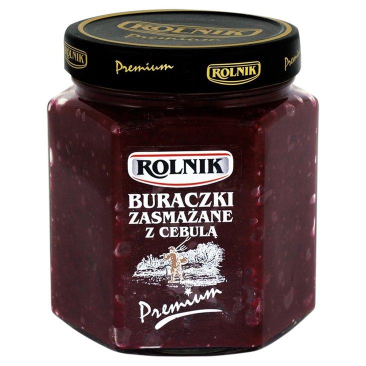 Rolnik Premium Buraczki zasmażane z cebulą 540 g (1)