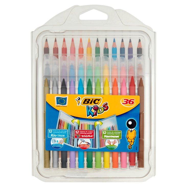 BiC Kids Zestaw kredek i flamastrów 36 sztuk (1)