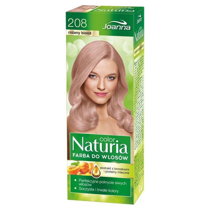 Joanna Naturia color Farba do włosów różany blond 208 (1)