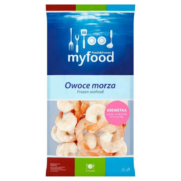 MyFood Owoce morza Krewetka biała obrana z ogonkiem 400 g (1)