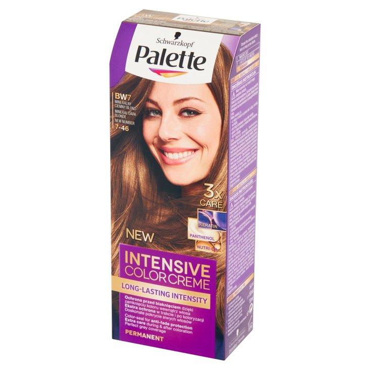Palette Intensive Color Creme Farba do włosów mineralny ciemny blond BW7 (7-46) (1)