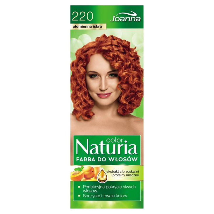 Joanna Naturia color Farba do włosów płomienna iskra 220 (2)